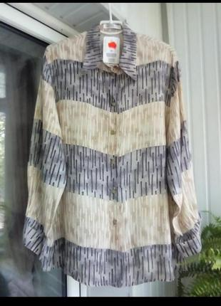 Новая натуральная вискозная рубашка блуза большого размера бвтал