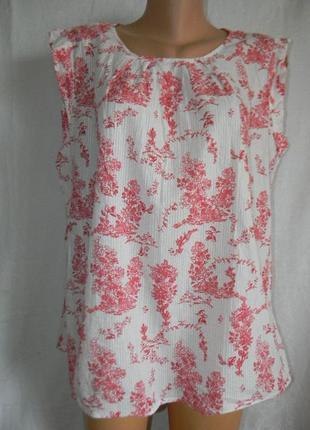 Натуральная легкая блуза с нежным притом tu