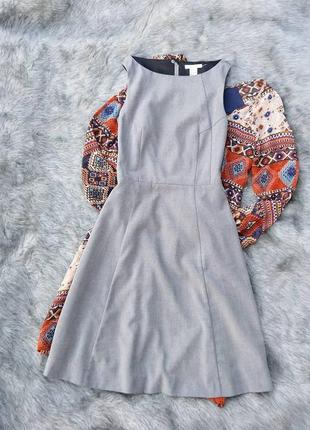 Платье из костюмной ткани h&m
