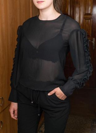 Прозрачная блуза