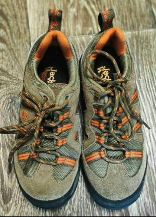 Фирменные замшевые кроссовки  jack wolfskin  31