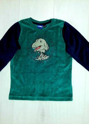 Крутой теплый  свитер кофта lupilu динозавр