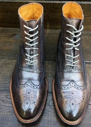 Giorgio 1958. кожаные мужские осенние ботинки. демисезонные. hand made
