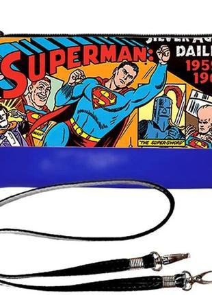 Клатч с принтом superman супермен качественный