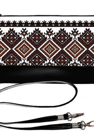Качественный клатч принт вышиванка украина