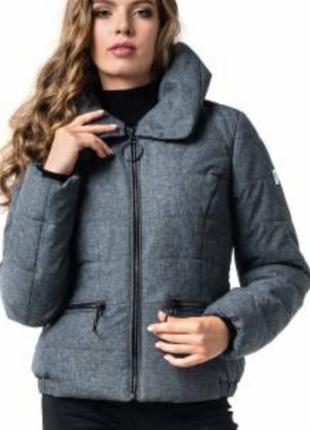 Зимняя укороченная куртка,бомпер,автоледи , размер 44.