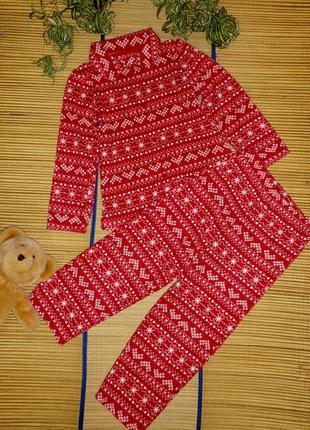 Пижама теплая для девочки 7-8лет