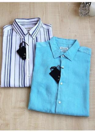 Мужские льняные рубашки massimo dutti 👔