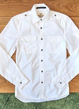 Біла брендова сорочка від blue ink на довгий рукав