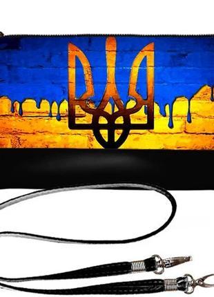 Сумка клатч украинская символика очень эффектный