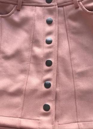Замшевая юбка на пуговицах