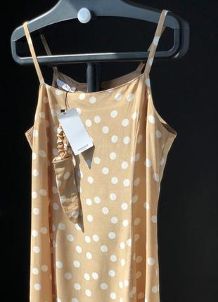 Платье в горошек mango размер м