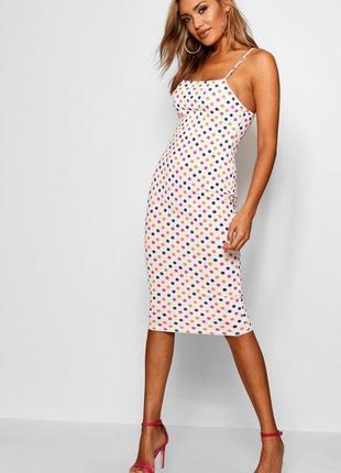 Boohoo. платье футляр миди. размер 40-42 новое.