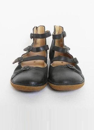 Кожаные туфли балетки 🌿