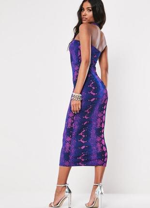 Missguided,новинка 2020!! платье миди с неоновым принтом uk 12 на наш 44