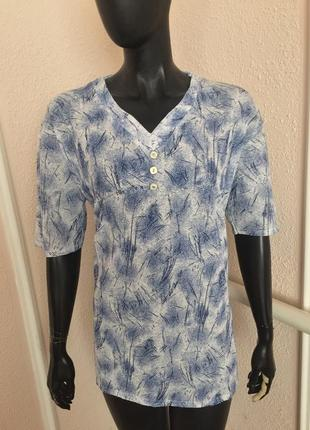 Легкая рубашка летняя футболка из италии