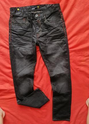 Классные мужские джинсы слим с пропиткой smog 30/32 в прекрасном состоянии