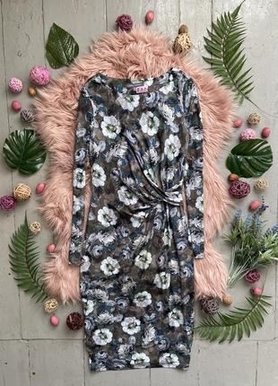 Актуальное миди платье в цветочный принт #581