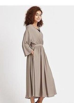 Платье кимоно на запах uniglo