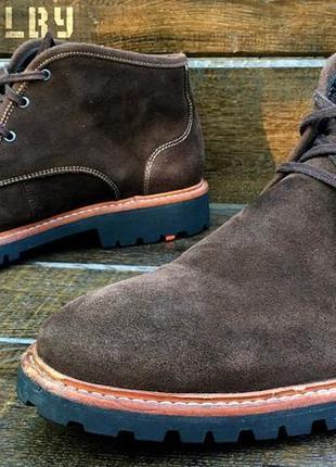 Lloyd vadim. замшевые мужские осенние ботинки. с мембранной gore-tex.