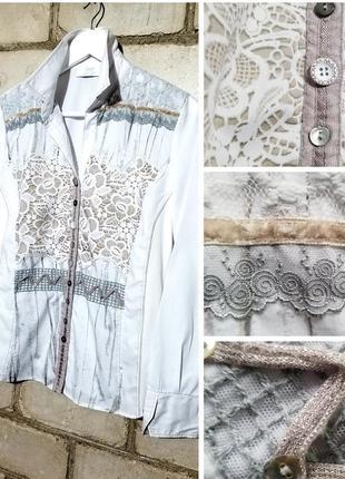 Стильная рубашка в винтажном дизайне just white