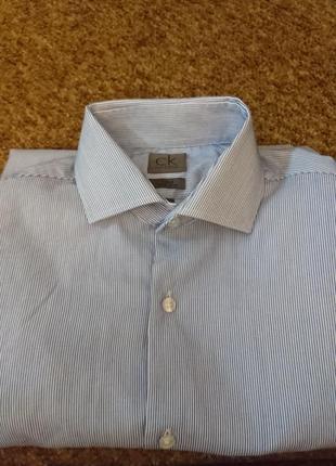 Рубашка с длинным рукавом в полоску calvin klein
