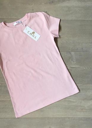 Нежная хлопковая пудровая футболка