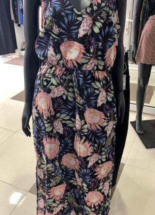 Летнее платье в цветы