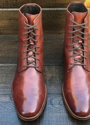Cole haan. кожаные мужские ботинки. мужские сапоги.