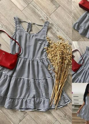 Коттонове плаття з рюшами