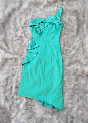 Платье футляр чехол с драпировкой на лифе и талии karen millen
