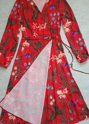 Платье миди h&m на запах