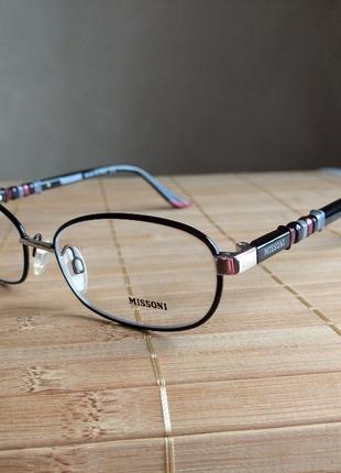 Фирменная  стильная оправа под линзы очки оригинал missoni mi23601