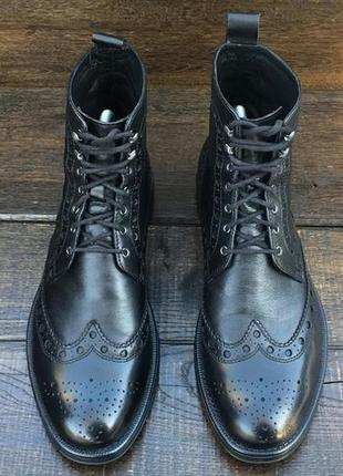 Geox respira. кожаные мужские ботинки броги. весенние ботинки.