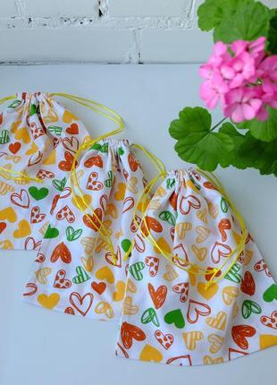 Эко мешок, эко торбочка, мешочек для хранения, для продуктов, мішечок з бавовни zero weste