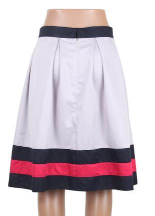 Присборенная юбка с каймой