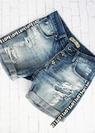 Шорты джинсовые деним кежуал n.fashion 42-44p