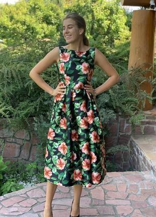 Вечернее платье миди dolce&gabbana
