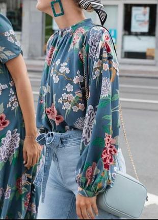 Шикарная свободная блуза лиоцел/вискоза h&m gp.