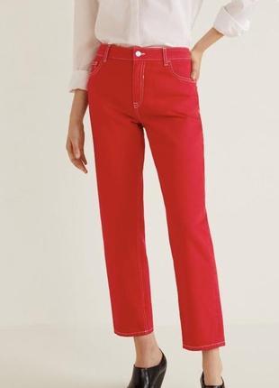 Mango красные джинсы оригинал новые с биркой 34 размер