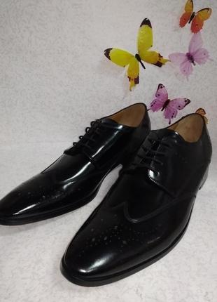 Кожаные туфли броги дерби melvin&hamilton (мелвин энд хамильтон) 51размер