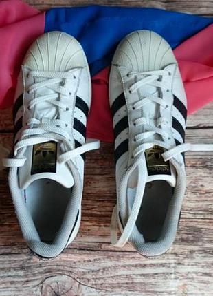 Кроссовки adidas superstar. оригинал. натуральная кожа.