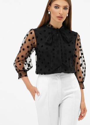 Шикарная блузка в горох