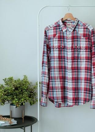 Рубашка свободного кроя в красную клетку levi's