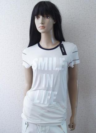 Женская футболка diesel (t-smile-t)