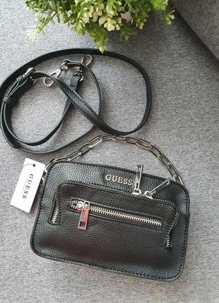 Чорна crossbody від guess,  сумка  клатч