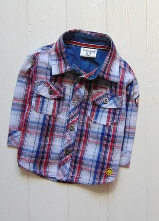 Prenatal. размер 3 месяца, рост 62 см. стильная рубашка для маленького модника