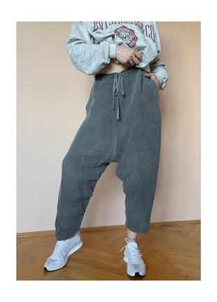 Forme d'expression unisex lounge sag pants дизайнерские льняные брюки италия