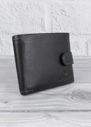 Портмоне, кошелек мужской кожаный b. cavalli 459 горизонтальный на кнопке