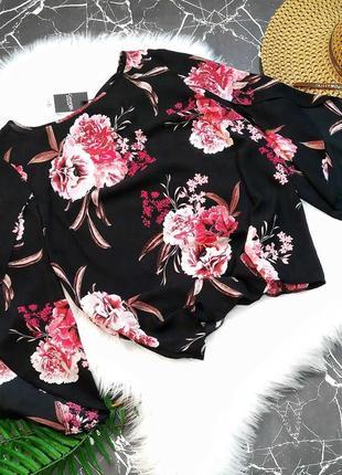 Летняя блузка в цветочный принт с красивой спинкой от george 🔥 распродажа -50% 🔥